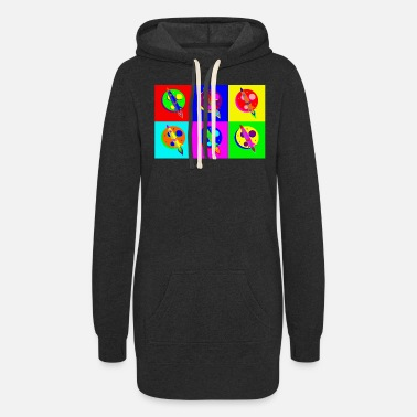 Popartcontest Rocket Moon Pop Art - Women's Hoodie Dress