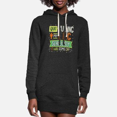 Quit Quit pulling my leg Design for a leg amputee - Women's Hoodie Dress