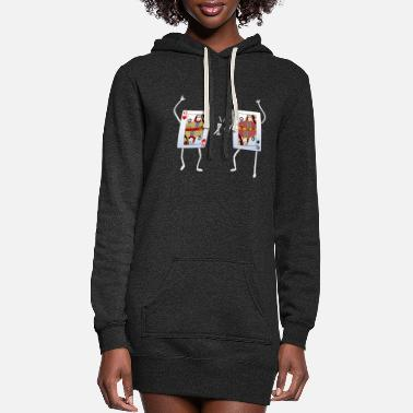 Playing Poker Card Game Playing Card Queen - Women's Hoodie Dress