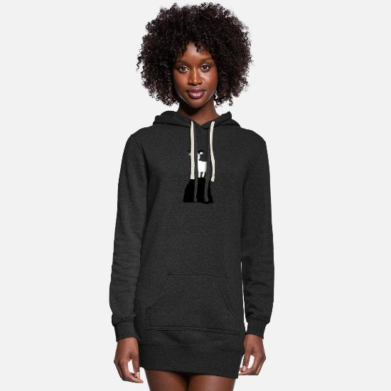 Mountains Hoodies & Sweatshirts - goat 3 - Women's Hoodie Dress heather black