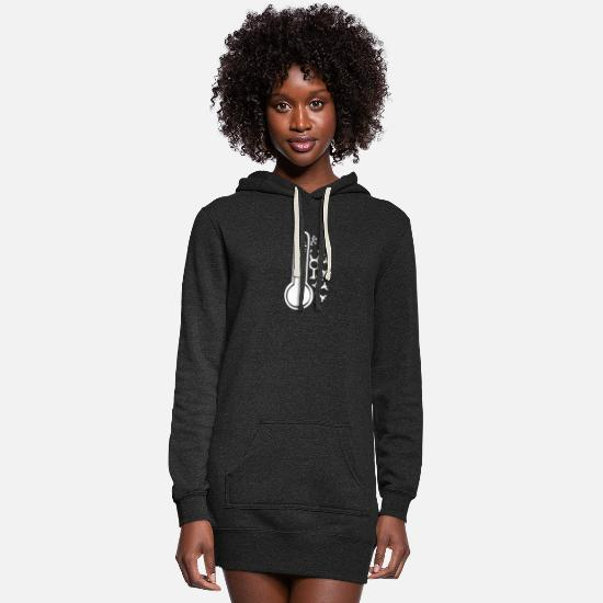 Snowflake Hoodies & Sweatshirts - Cold Weather - Women's Hoodie Dress heather black
