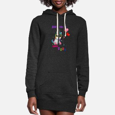 Awesome Unicorn Awesome Since 2006 - Women's Hoodie Dress