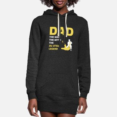 Taekwondo Jiu jitsu Dad Martial arts Fathers Day Gift - Women's Hoodie Dress