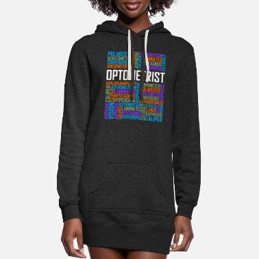 Cloud Optometrist Words - Women's Hoodie Dress