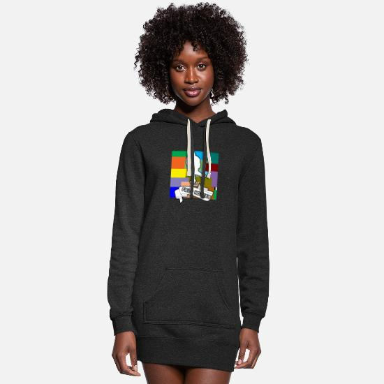 Floor Ball Hoodies & Sweatshirts - Field Hockey Indoor Hockey Player Goalkeeper Puck - Women's Hoodie Dress heather black