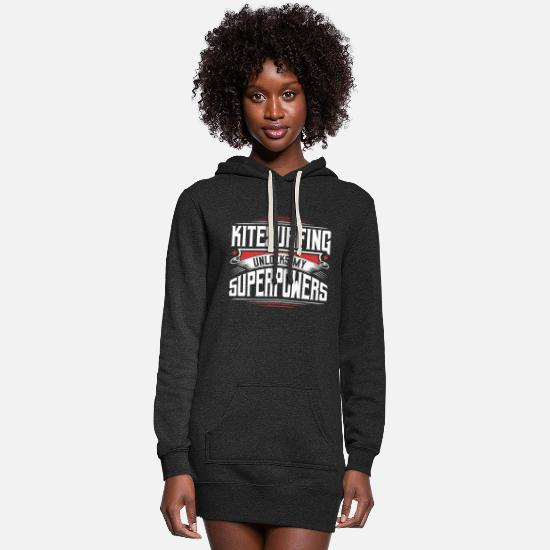 Love Hoodies & Sweatshirts - Cool Funny Kitesurfing Graphic Quotes Sayings Gift - Women's Hoodie Dress heather black
