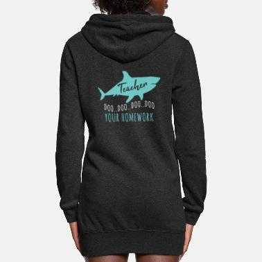 Shark Fin Teacher Shark - Women's Hoodie Dress