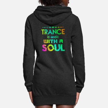 Dubstep Trance Music Soul DJ Festival Outfit - Women's Hoodie Dress