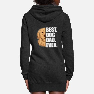 Rescue Best Dog Dad Ever Golden Retriever Dog Lover Pet - Women's Hoodie Dress