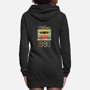 Established Vintage 80s November 1990 30th Birthday Gift Idea - Women's Hoodie Dress