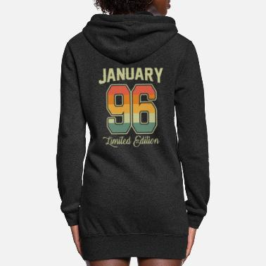 Congratulations Vintage 25th Birthday January 1996 Sports Gift - Women's Hoodie Dress