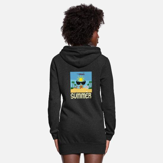 Sunglasses Hoodies & Sweatshirts - Beach Summer Ocean Sun Palms - Gift Idea - Women's Hoodie Dress heather black