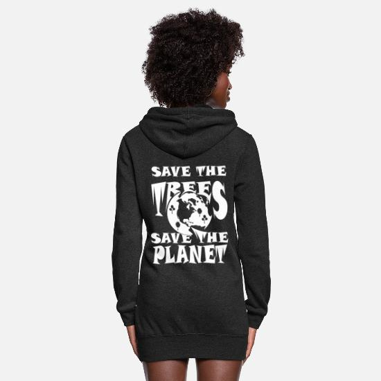 Save Hoodies & Sweatshirts - Save the trees save the planet - Women's Hoodie Dress heather black