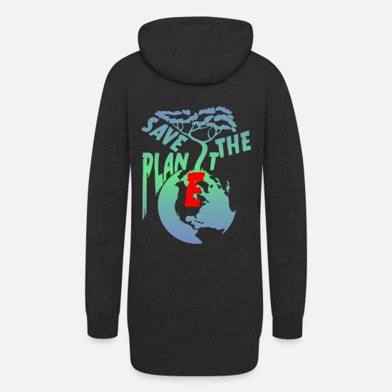 Save The World Hoodies & Sweatshirts - Save the planet - Women's Hoodie Dress heather black