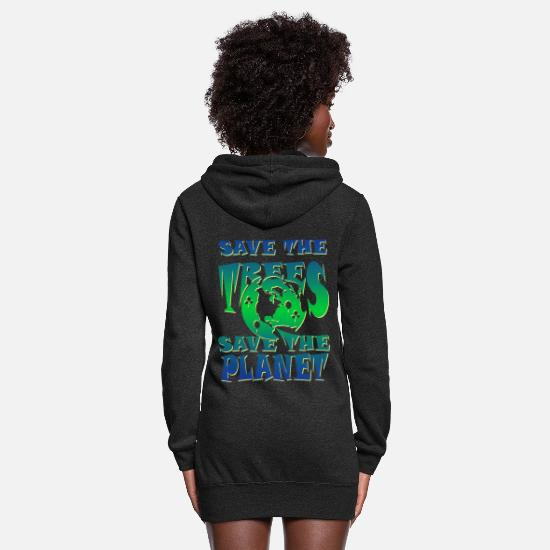 Save Hoodies & Sweatshirts - Save the trees - Women's Hoodie Dress heather black
