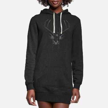 Three Hauses White deer head - Women's Hoodie Dress