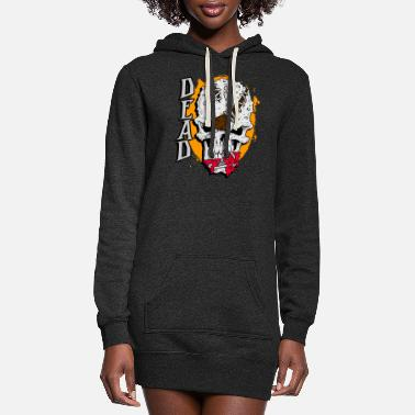 Dead Angry Head Dead Skull - Women's Hoodie Dress