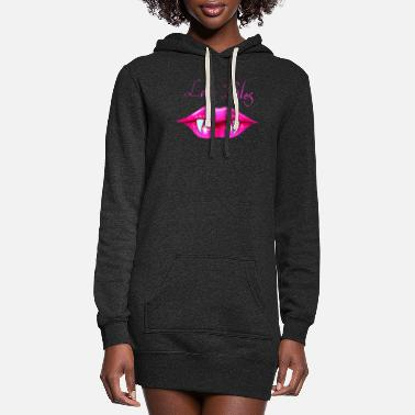 Death Pastel Goth Love Bites Vampire Lips Valentine - Women's Hoodie Dress