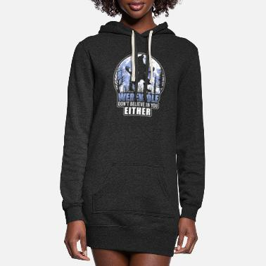 Wolfpack monster halloween scary - Women's Hoodie Dress