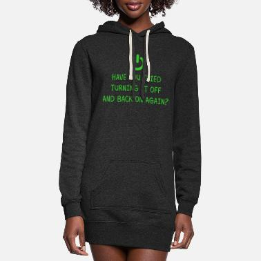 Video Games Turning it off Programming Computer Science Gift - Women's Hoodie Dress