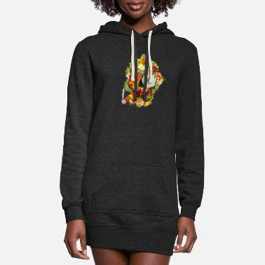 Skull Colorful Mexican Day of The Dead Sugar Skull Cigar - Women's Hoodie Dress