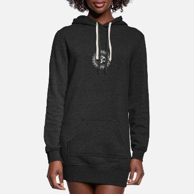 Shiva Ohm Symbol Silver - Women's Hoodie Dress