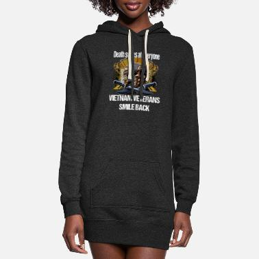 Death Vietnam Veteran Death Smiles At Everyone - Women's Hoodie Dress