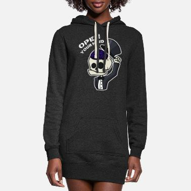 Creepy Open Your Mind - Women's Hoodie Dress