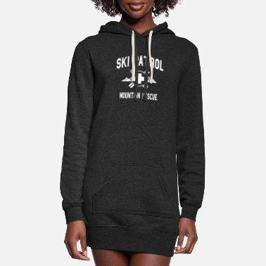 Ski Ski Patrol - Mountain Rescue (vintage look) - Women's Hoodie Dress