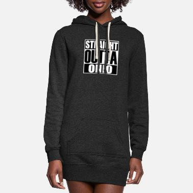 Latest Design tagged as Straight Outta Ohio - Women's Hoodie Dress