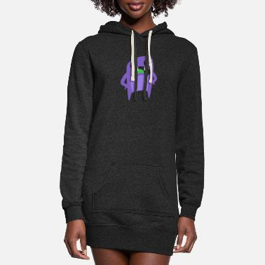 Creepy Confused Monster - Women's Hoodie Dress