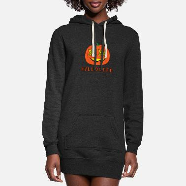 Spooky Hippie Halloweed Funny Hippie Pumpkin Halloween - Women's Hoodie Dress