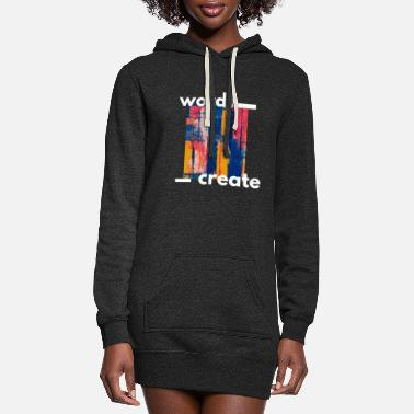 Words Create - Women's Hoodie Dress