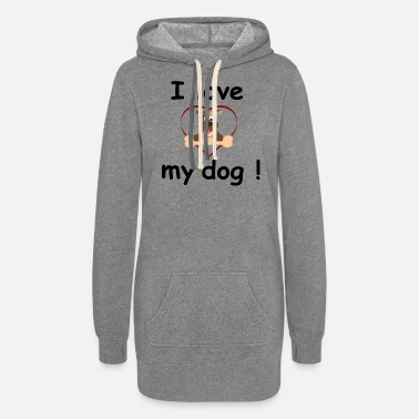 I Love I love my dog - Women's Hoodie Dress