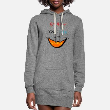 Sayings sayings saying smile - Women's Hoodie Dress