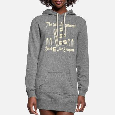 Female The 2nd Amendment Rated E For Everyone © - Women's Hoodie Dress