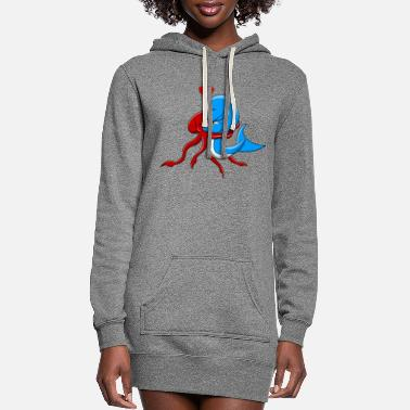 Under Water Under water friendship - Women's Hoodie Dress