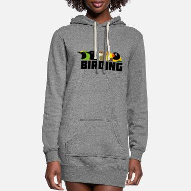 Bird Birding Birds - Women's Hoodie Dress