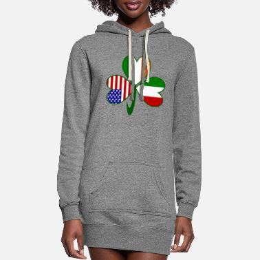 Italian Italian Irish American Shamrock - Women's Hoodie Dress