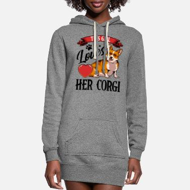 Happiness This Girl Loves Her Corgi dog lover gift - Women's Hoodie Dress