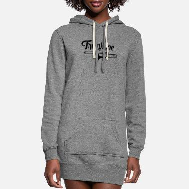 Plus Musician Instrument Trombone Trombonist Trombone - Women's Hoodie Dress