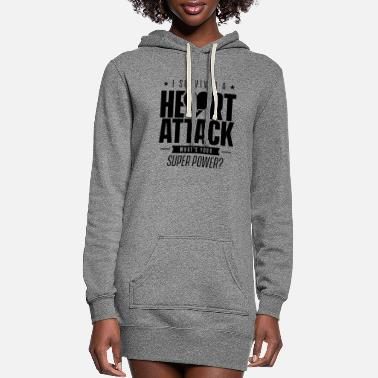 I Love I survived a heart attack Survivor Hearts Team - Women's Hoodie Dress