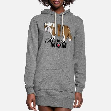 Bulldog Bulldog Mom - Women's Hoodie Dress