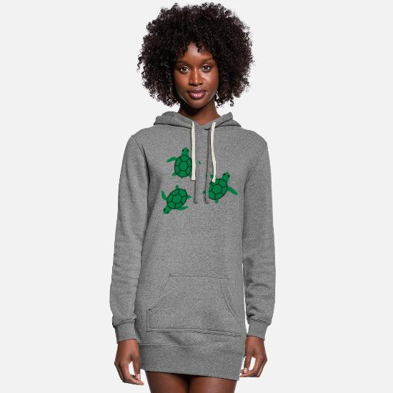 Sea Turtle Hoodies & Sweatshirts - sea turtle - Women's Hoodie Dress heather gray