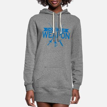 Trainer Weapon gift fencer sport fencing - Women's Hoodie Dress