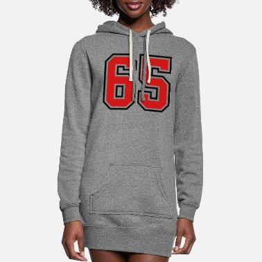 Number 65 sports jersey football number - Women's Hoodie Dress