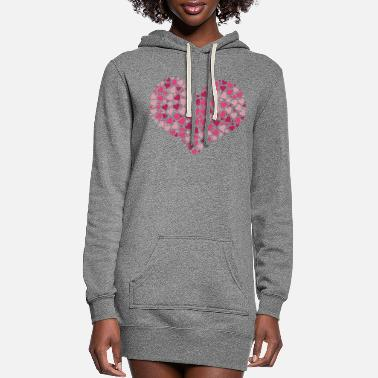 Heart Hearts in heart - Women's Hoodie Dress