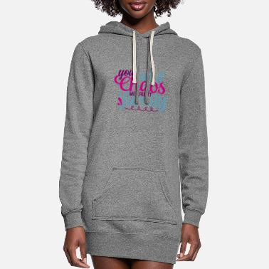 Crest You Call It Chaos We Call It Family - Women's Hoodie Dress
