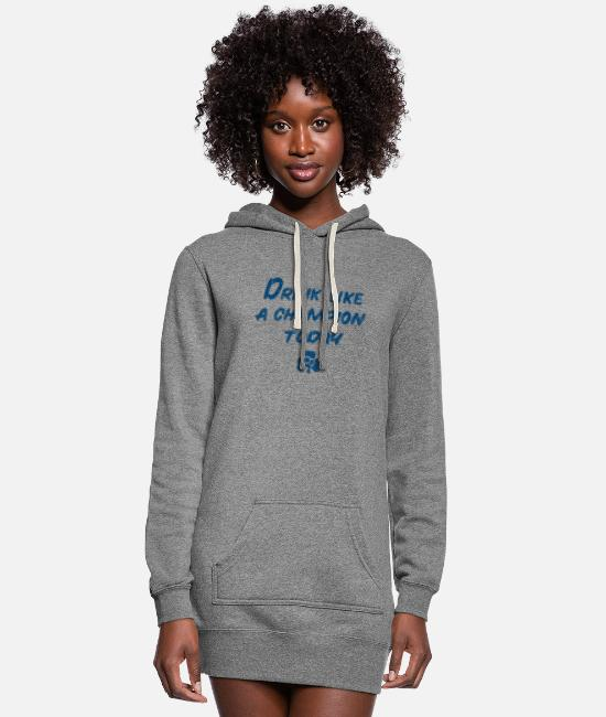 Fighting Hoodies & Sweatshirts - Drink Like a Champion - Women's Hoodie Dress heather gray