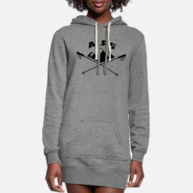 Alps Mountains, Alps, Ski, Hiking, Switzerland, Swiss - Women's Hoodie Dress